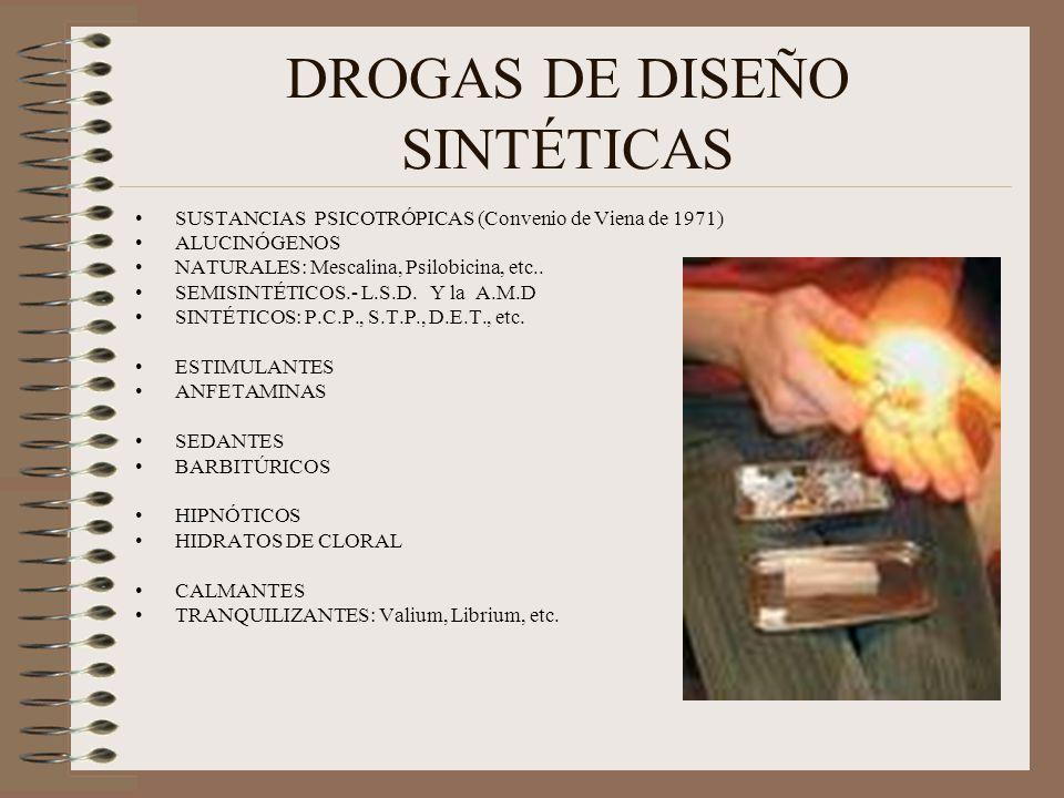 DROGAS DE DISEÑO SINTÉTICAS