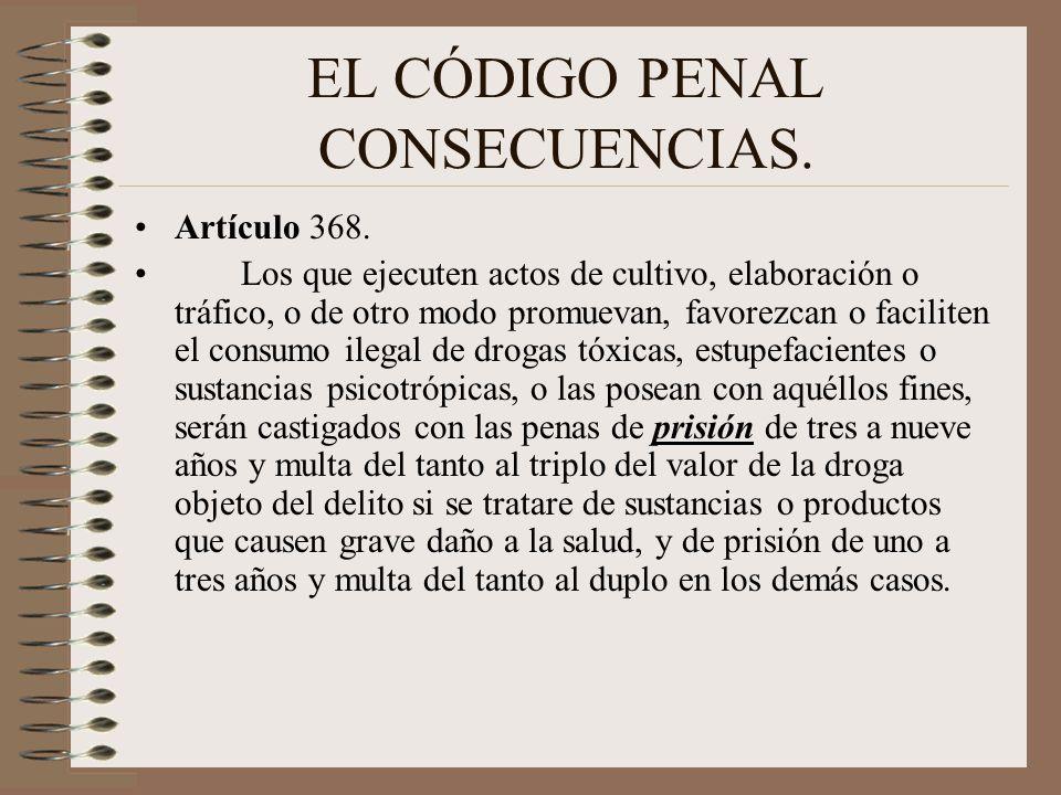 EL CÓDIGO PENAL CONSECUENCIAS.