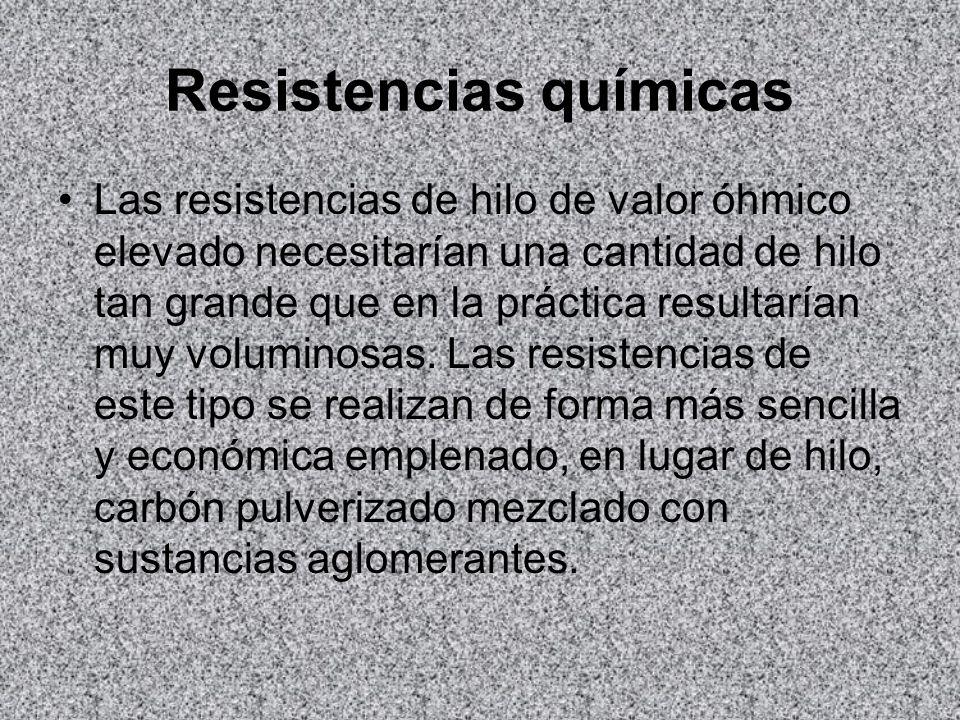 Resistencias químicas