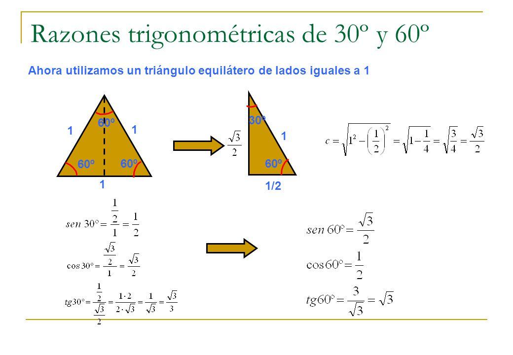 Razones trigonométricas de 30º y 60º