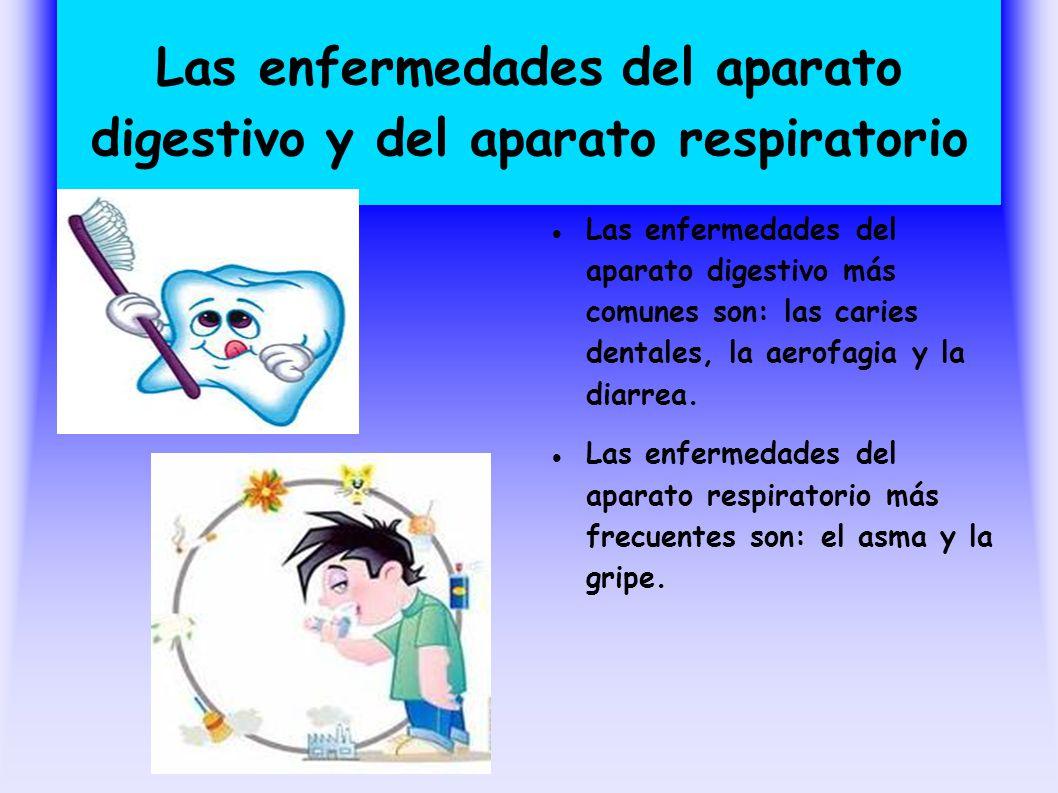 Las enfermedades del aparato digestivo y del aparato respiratorio