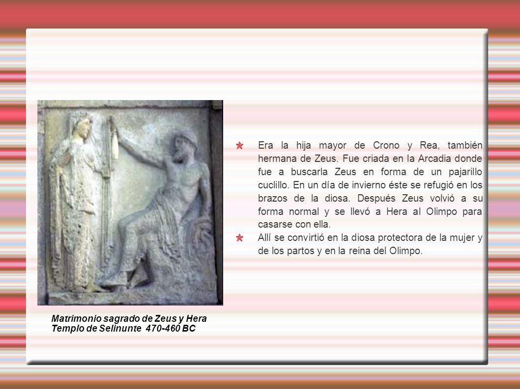 Era la hija mayor de Crono y Rea, también hermana de Zeus