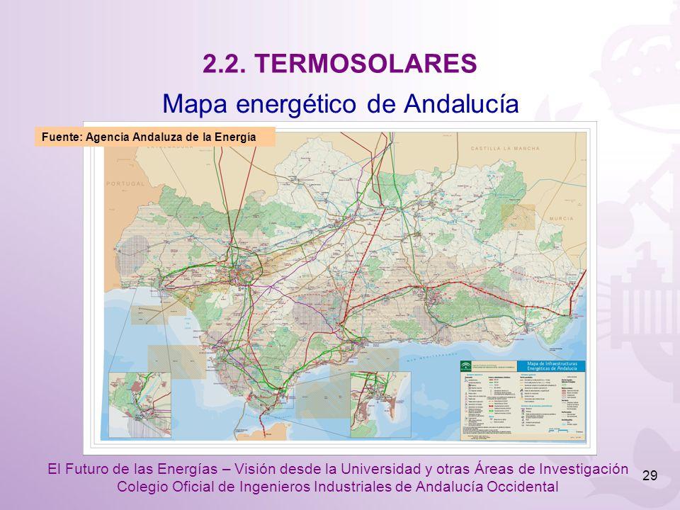 Mapa energético de Andalucía