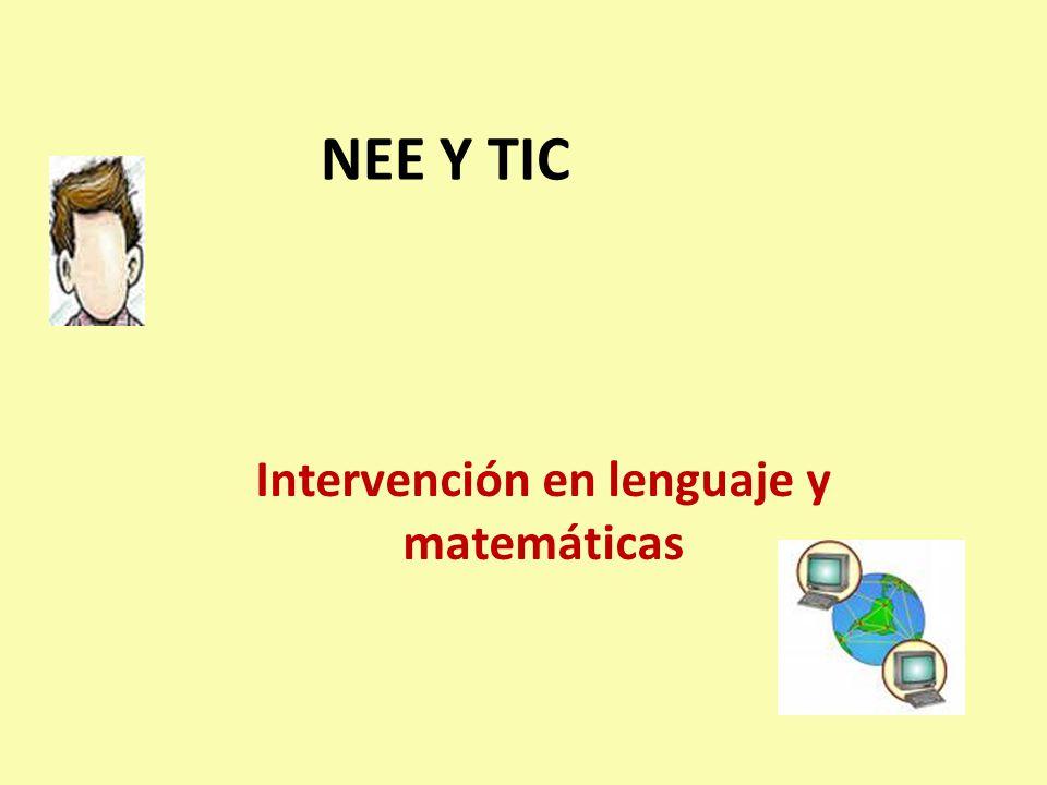 Intervención en lenguaje y matemáticas