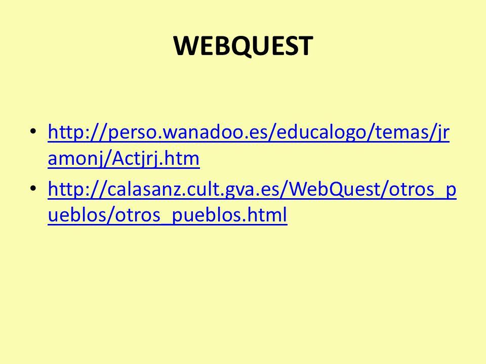 WEBQUEST http://perso.wanadoo.es/educalogo/temas/jramonj/Actjrj.htm