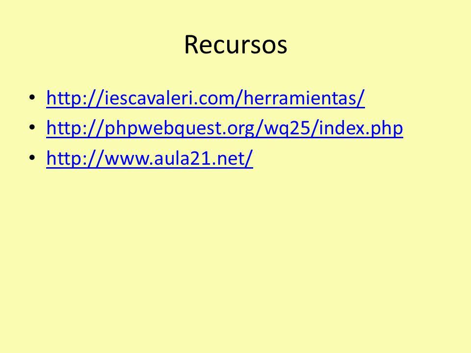 Recursos http://iescavaleri.com/herramientas/