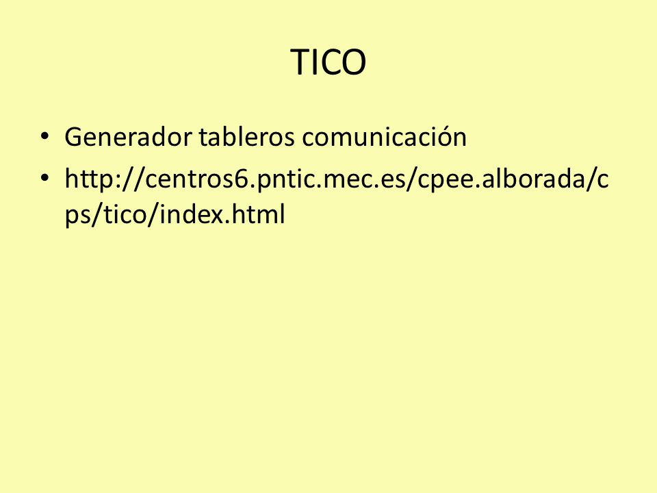TICO Generador tableros comunicación