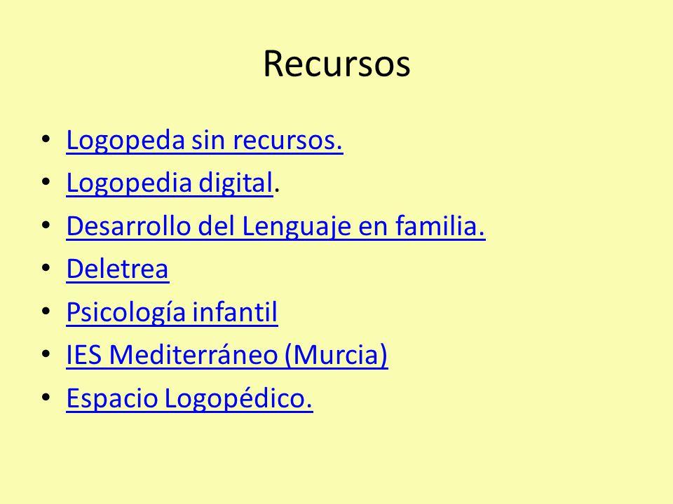 Recursos Logopeda sin recursos. Logopedia digital.