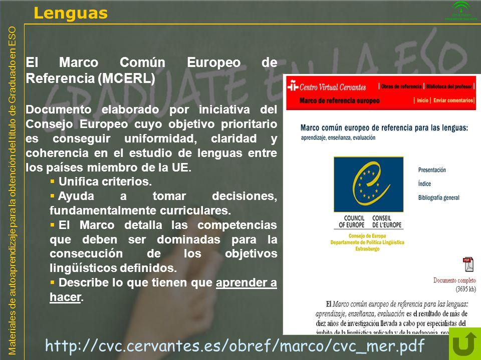 Lenguas http://cvc.cervantes.es/obref/marco/cvc_mer.pdf