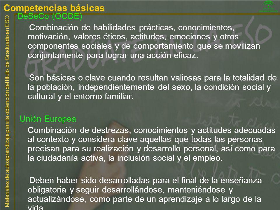 Competencias básicas DeSeCo (OCDE)