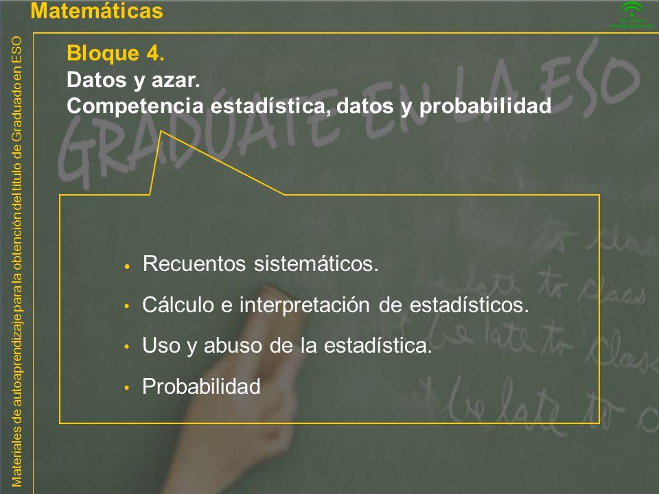 Competencia estadística, datos y probabilidad