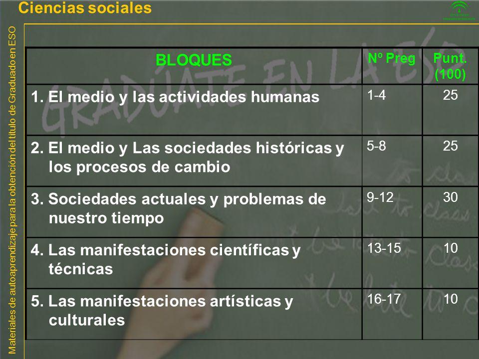 1. El medio y las actividades humanas