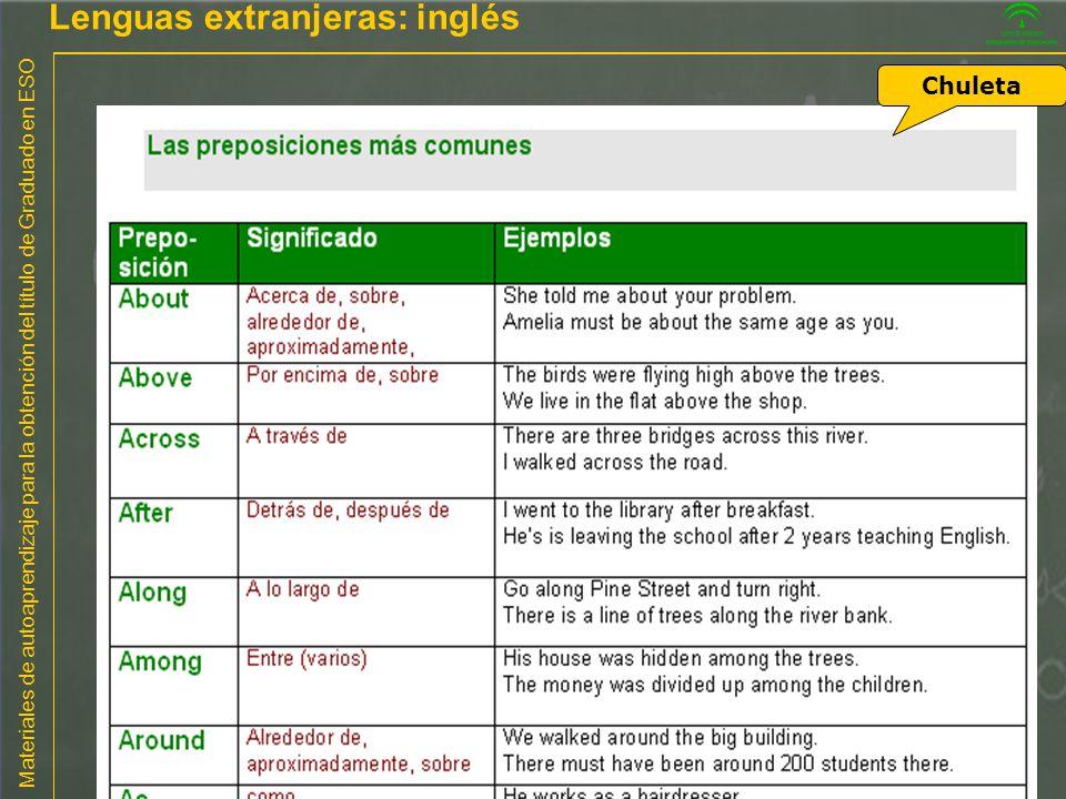 Lenguas extranjeras: inglés