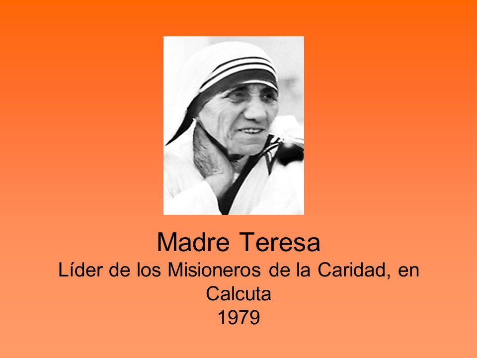 Madre Teresa Líder de los Misioneros de la Caridad, en Calcuta 1979