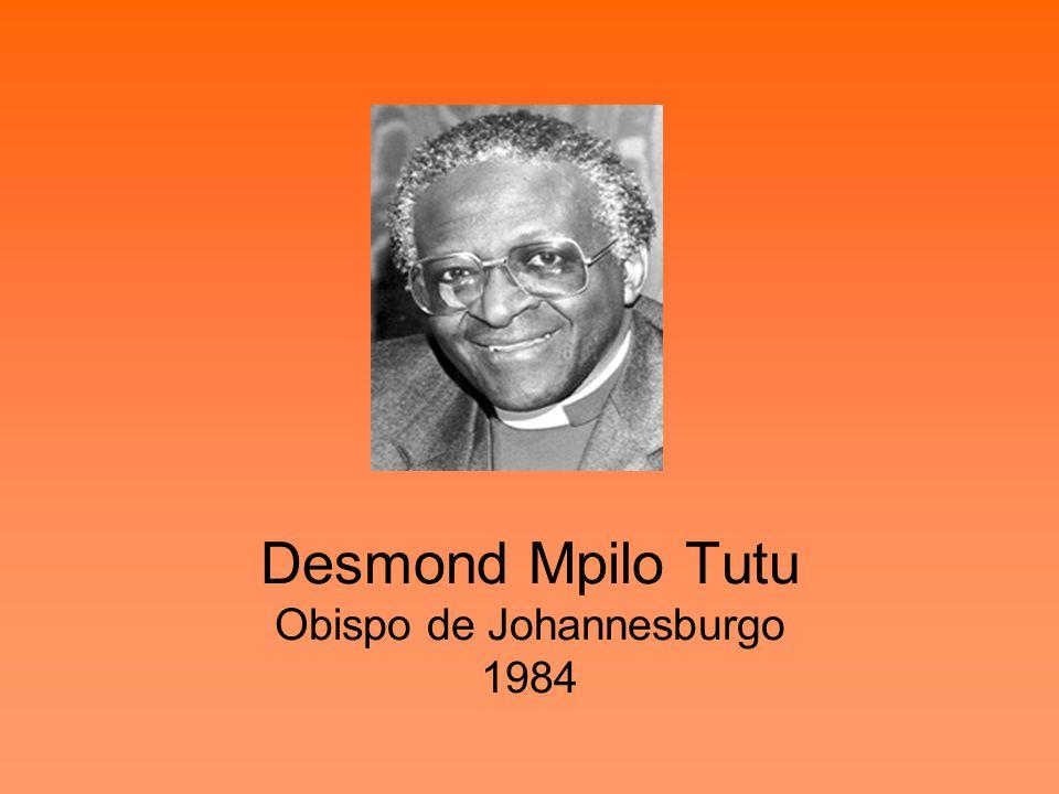 Desmond Mpilo Tutu Obispo de Johannesburgo 1984