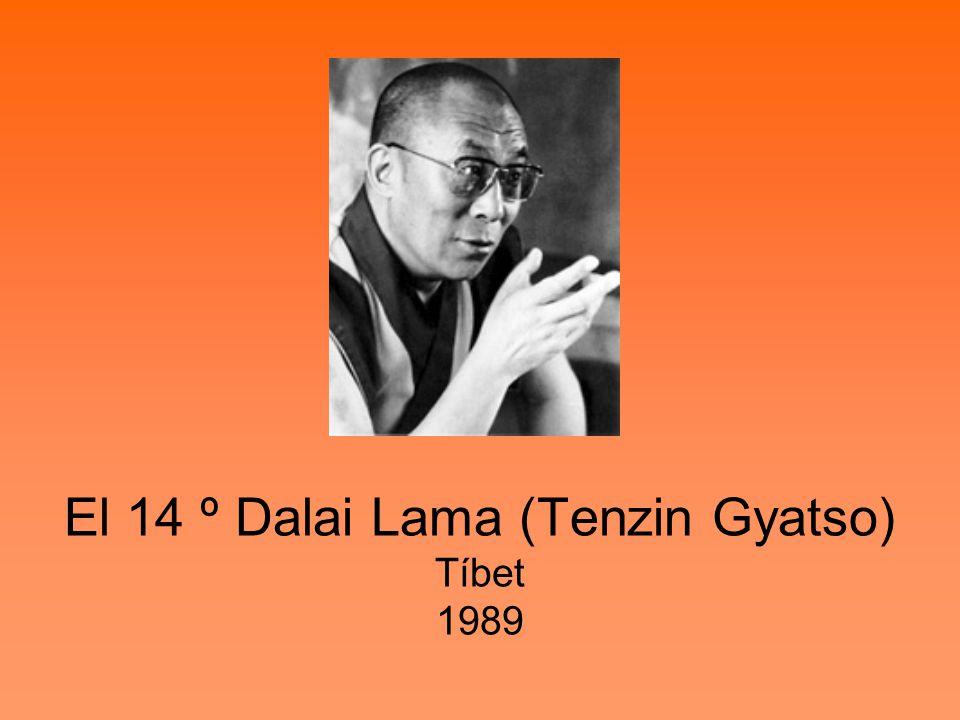 El 14 º Dalai Lama (Tenzin Gyatso) Tíbet 1989