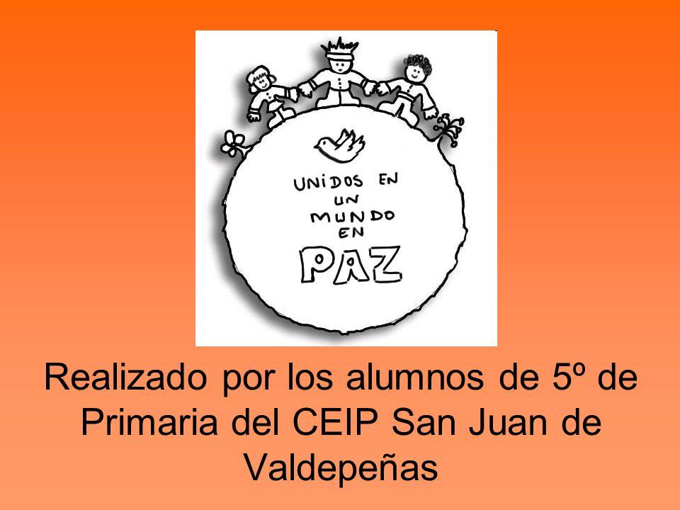 Realizado por los alumnos de 5º de Primaria del CEIP San Juan de Valdepeñas