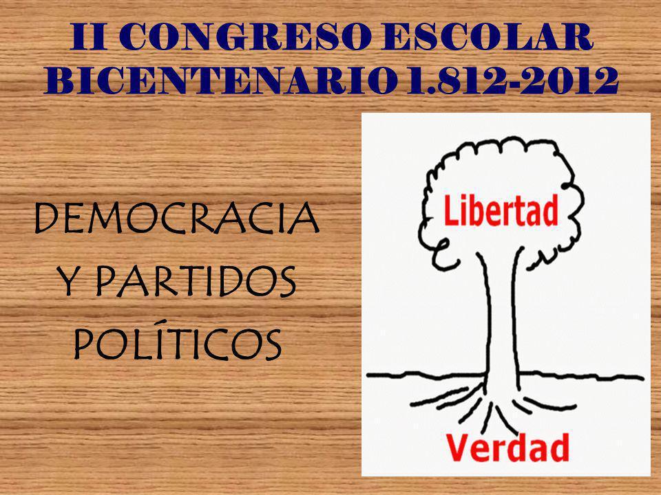 II CONGRESO ESCOLAR BICENTENARIO 1.812-2012