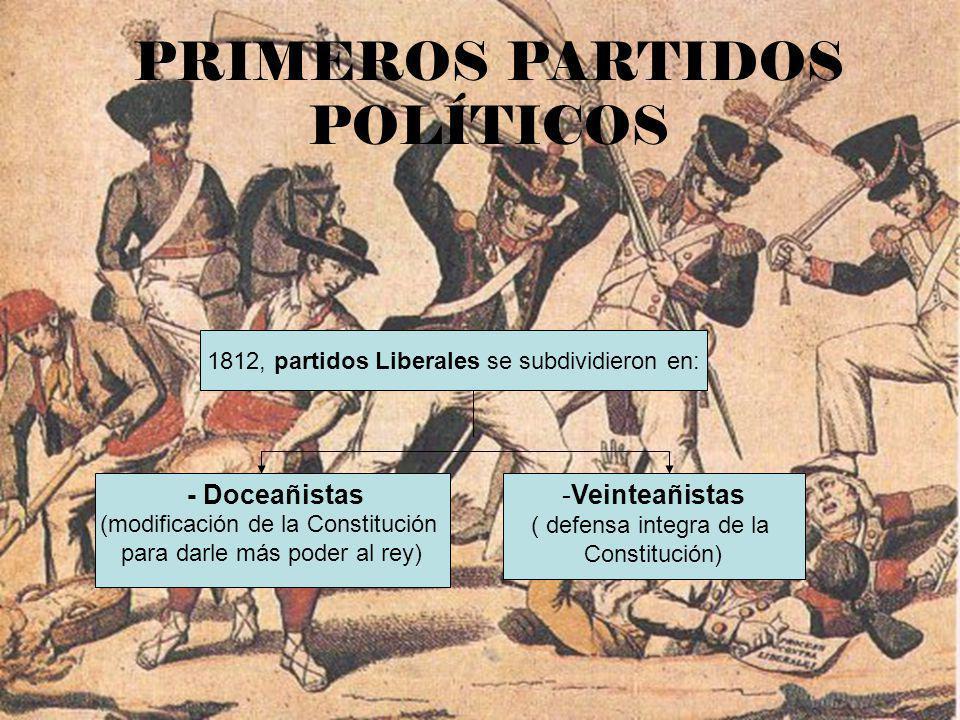 PRIMEROS PARTIDOS POLÍTICOS