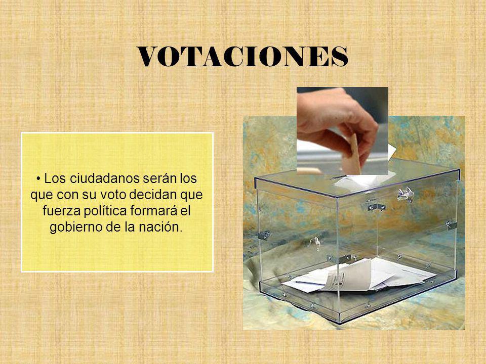VOTACIONES Los ciudadanos serán los que con su voto decidan que fuerza política formará el gobierno de la nación.