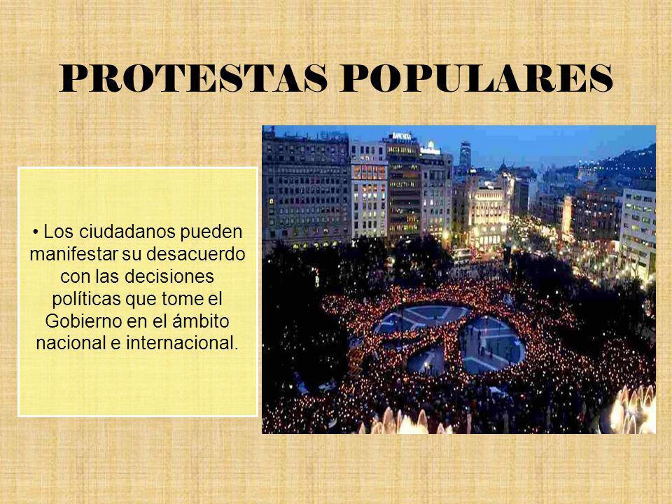 PROTESTAS POPULARES