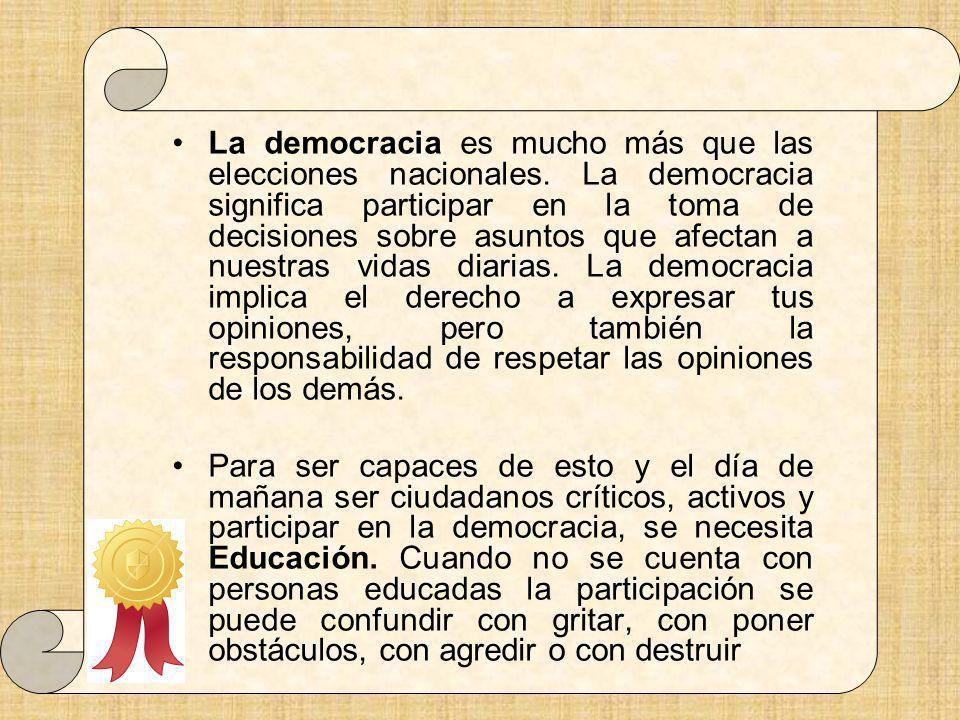 La democracia es mucho más que las elecciones nacionales