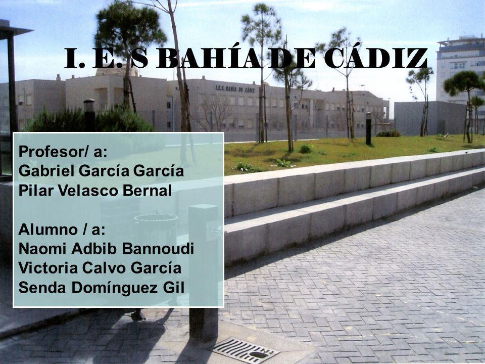 I. E. S BAHÍA DE CÁDIZ Profesor/ a: Gabriel García García