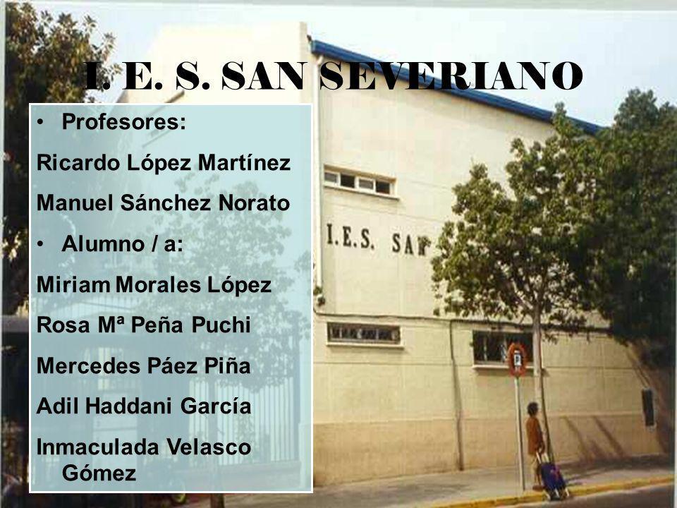 I. E. S. SAN SEVERIANO Profesores: Ricardo López Martínez