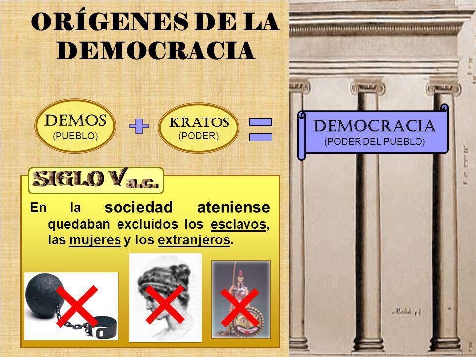 ORÍGENES DE LA DEMOCRACIA