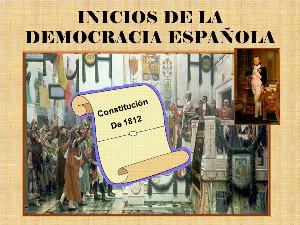 INICIOS DE LA DEMOCRACIA ESPAÑOLA
