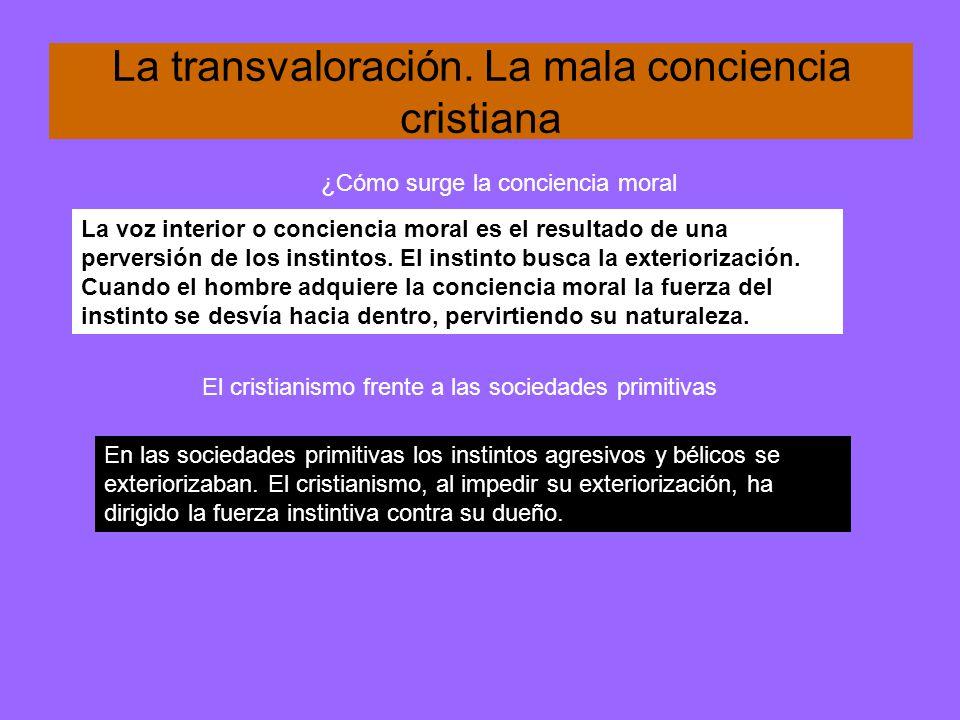 La transvaloración. La mala conciencia cristiana