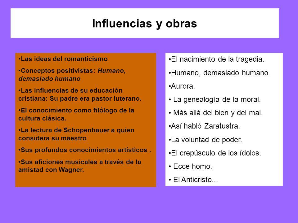 Influencias y obras El nacimiento de la tragedia.