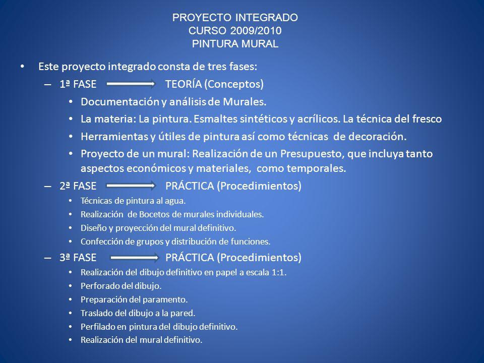 PROYECTO INTEGRADO CURSO 2009/2010 PINTURA MURAL
