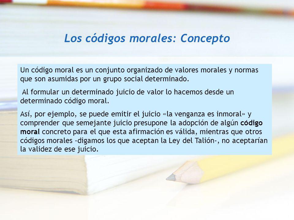 Los códigos morales: Concepto
