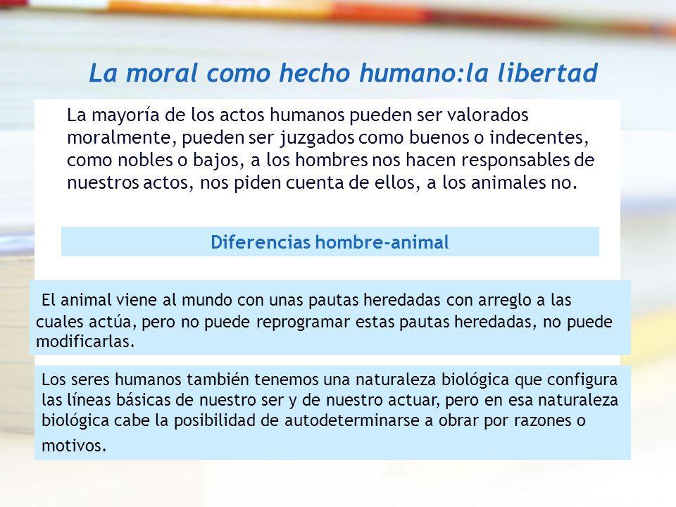La moral como hecho humano:la libertad