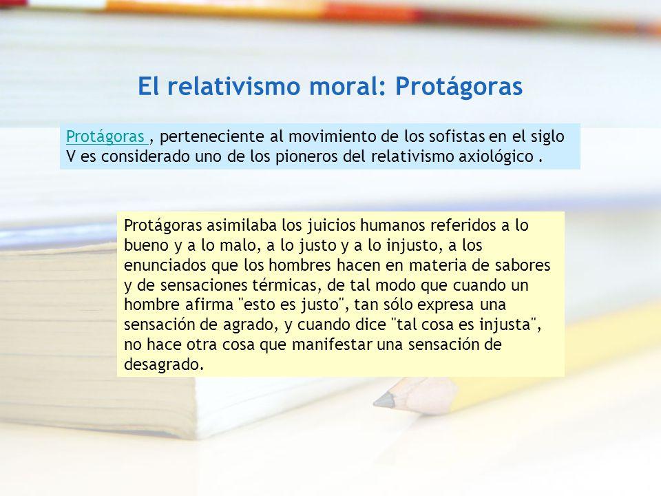 El relativismo moral: Protágoras