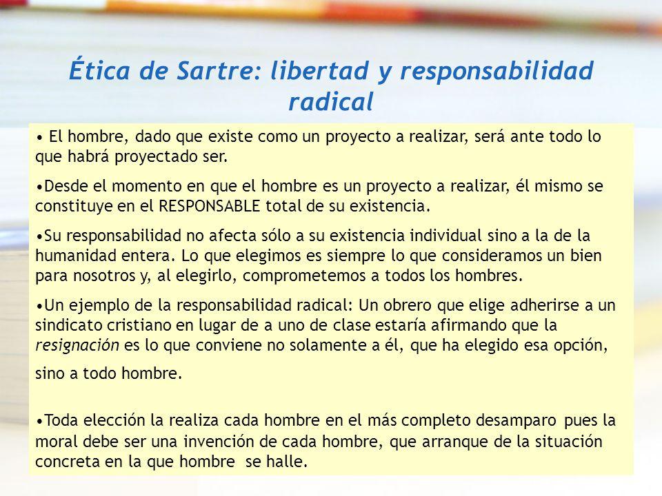 Ética de Sartre: libertad y responsabilidad radical