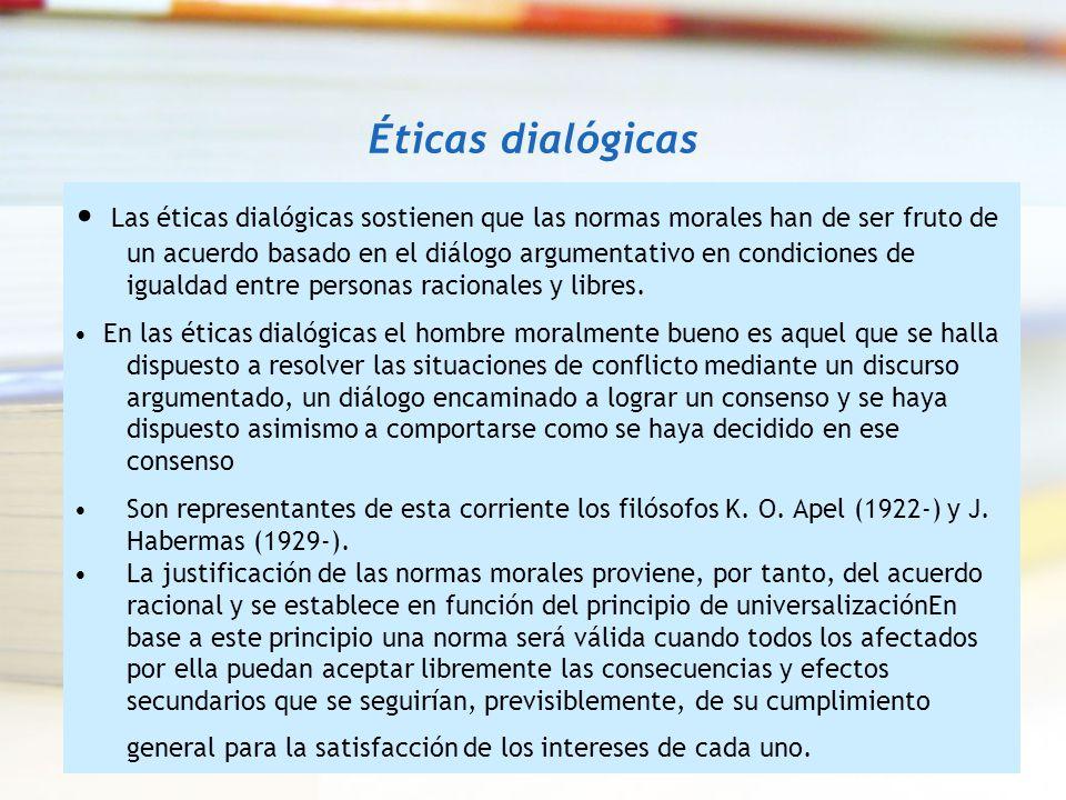 Éticas dialógicas