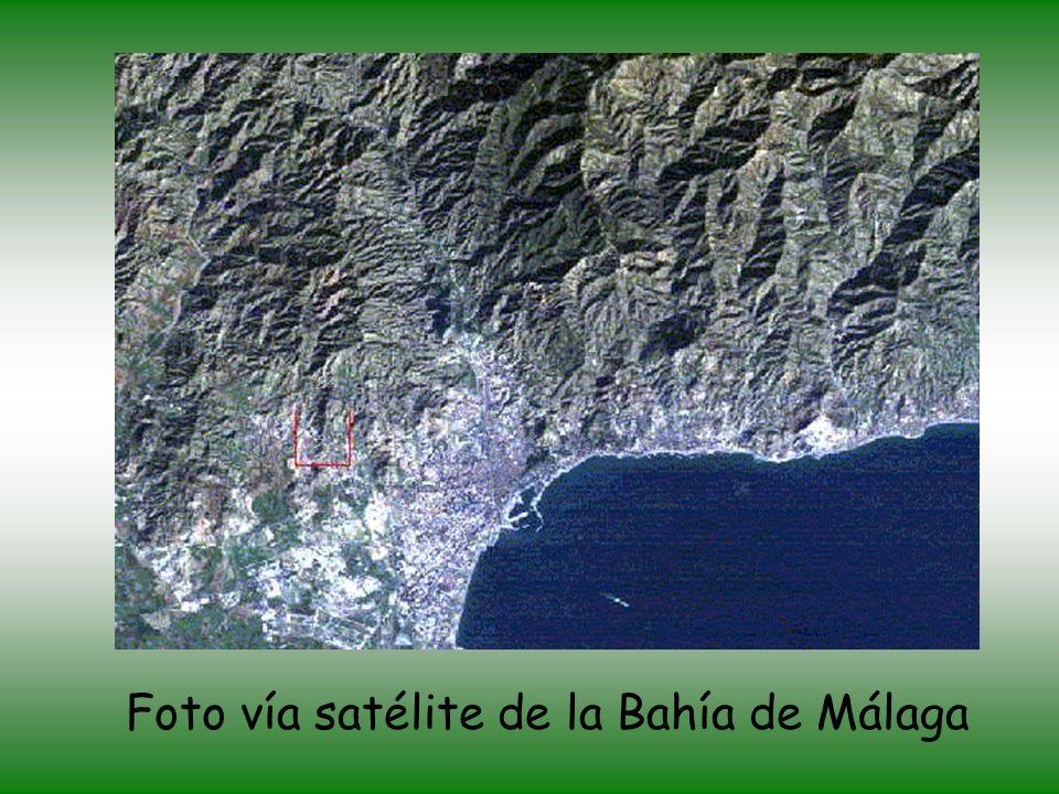 Foto vía satélite de la Bahía de Málaga