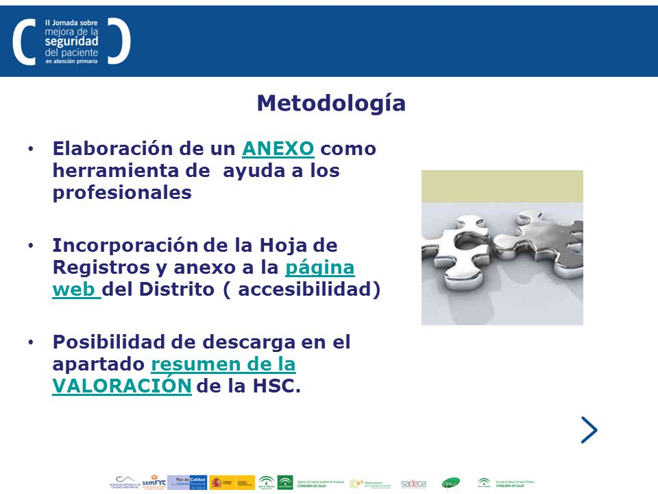Metodología Elaboración de un ANEXO como herramienta de ayuda a los profesionales.