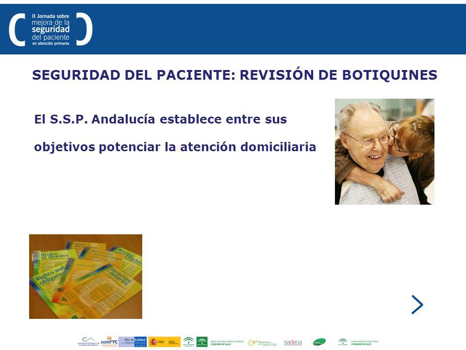 SEGURIDAD DEL PACIENTE: REVISIÓN DE BOTIQUINES