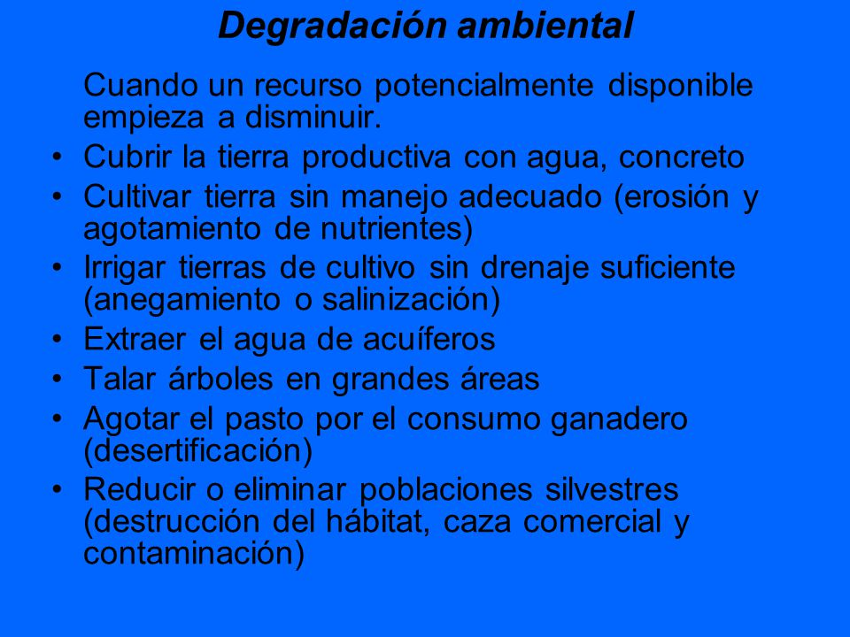 Degradación ambiental