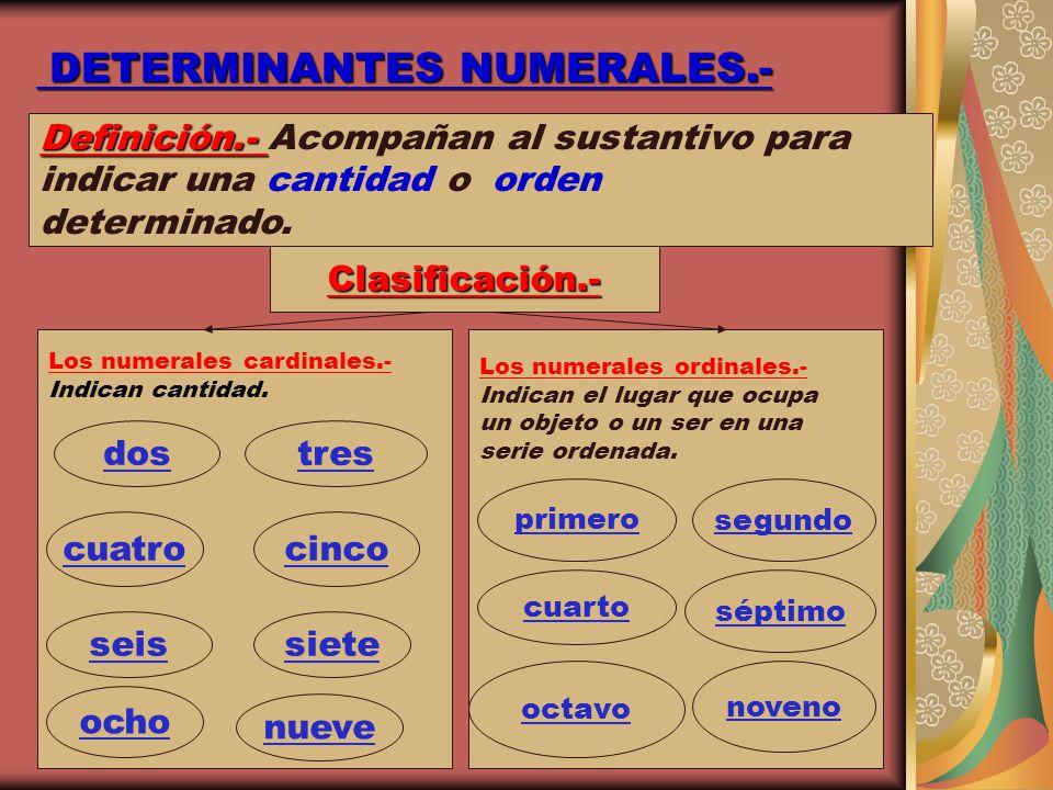 DETERMINANTES NUMERALES.-