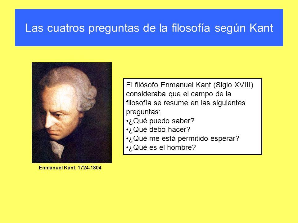Las cuatros preguntas de la filosofía según Kant