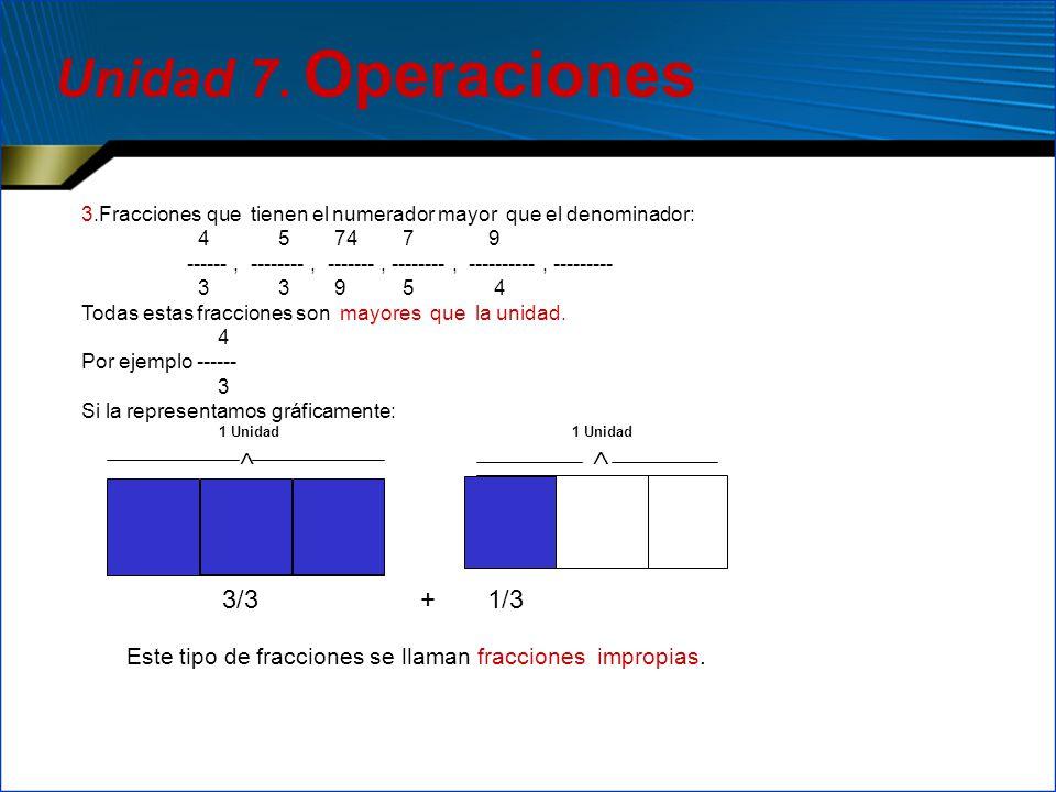 Unidad 7. Operaciones 3/3 + 1/3