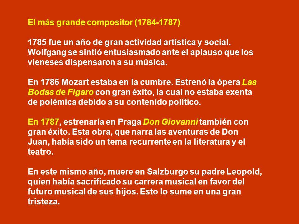 El más grande compositor (1784-1787)