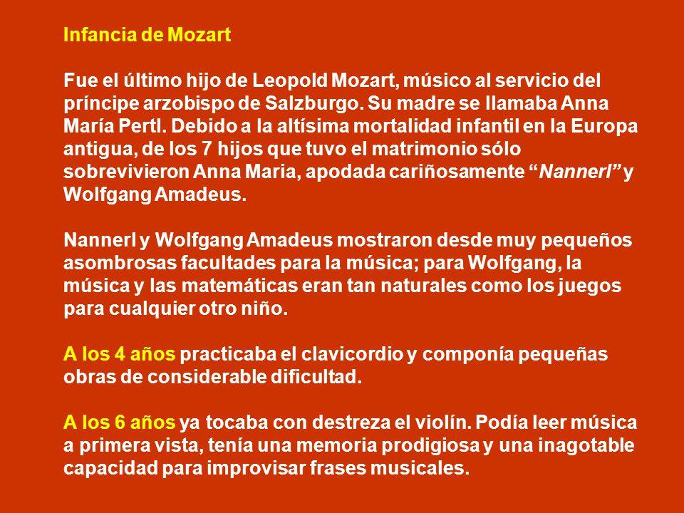 Infancia de Mozart