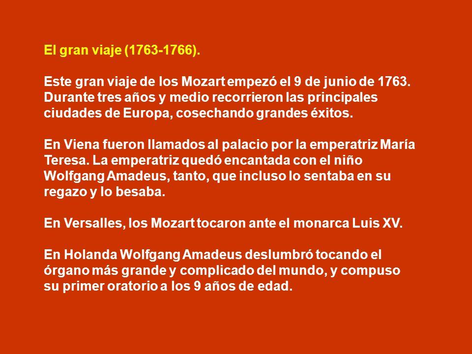 El gran viaje (1763-1766).
