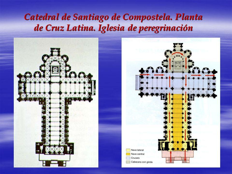 Catedral de Santiago de Compostela. Planta de Cruz Latina
