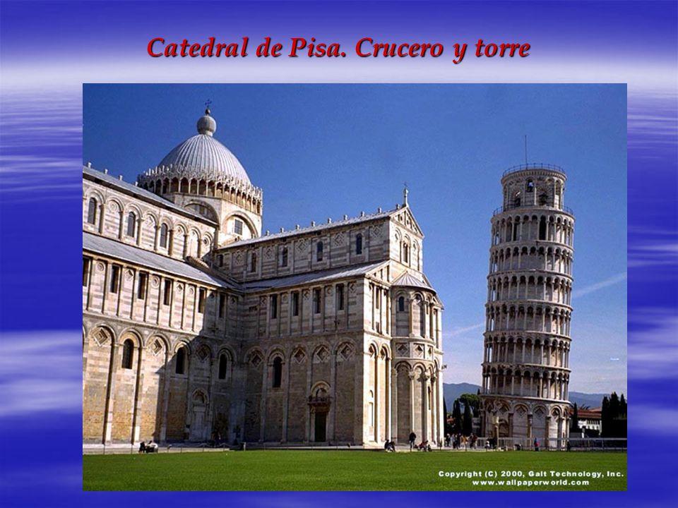 Catedral de Pisa. Crucero y torre